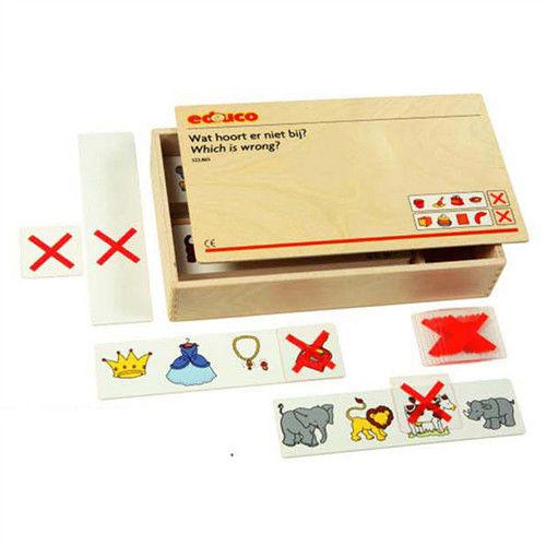【華森葳兒童教玩具】益智邏輯系列-找出不同屬性卡 K5-522865