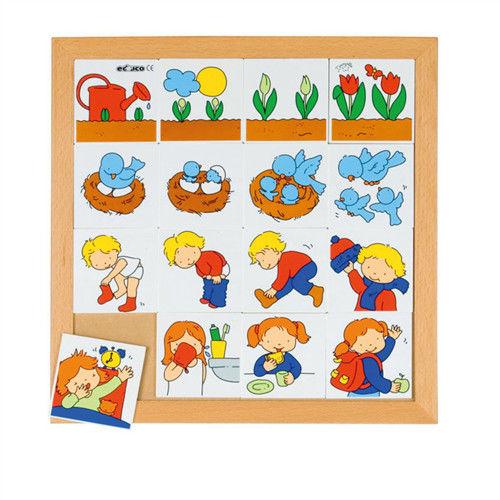 【華森葳兒童教玩具】益智邏輯系列-幼兒綜合配對遊戲系列2-先後順序 K5-522286