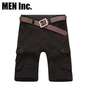 Men Inc.「陽光型男」30-38美軍經典戶外休閒短褲 (黑色)