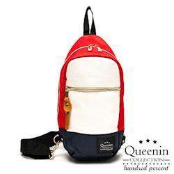 DF Queenin日韓 - 日本街頭人氣款單肩後背包-共4色