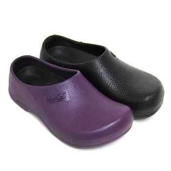 【Pretty】男女款熱銷防水鞋/廚師鞋-紫色、黑色
