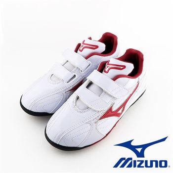 【Mizuno 美津濃】 FRANCHISE F EDITION Jr. 兒童棒壘球鞋 11GP144262 (紅x白)