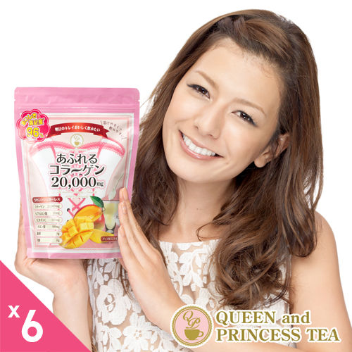 【日本皇后與公主】2萬毫克高單位低卡路里膠原蛋白粉(250g)X6入組