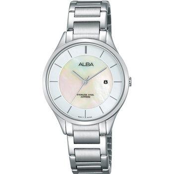 【ALBA】夏日率姓女孩時尚珍珠貝腕錶VJ22-X237S(AH7L35X1)