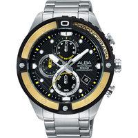 ~ALBA~ACTIVE 夏日雙 錶圈計時腕錶 ^#45 黃VD57 ^#45 X071Y