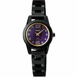 【ALBA】WIRED 甜美純真時尚女錶V110-X005T-IP黑
