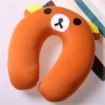 魔法Baby ~ 可愛卡通立體造型健康護頸枕/午睡枕_小熊