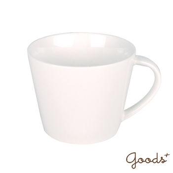 【goods+】南法風情 純白陶瓷寬口馬克杯/咖啡杯_PC06