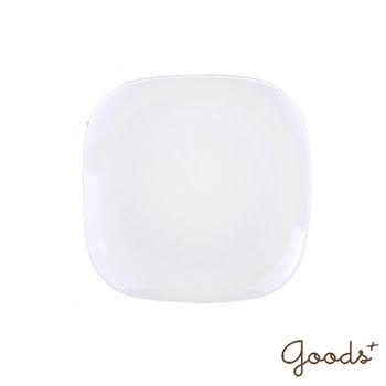 【goods+】南法風情 純白陶瓷方型餐盤/沙拉盤_PT02(中)