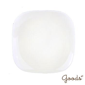 【goods+】南法風情 純白陶瓷方型餐盤/沙拉盤_PT01(大)