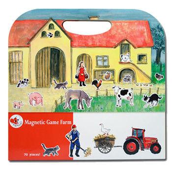 【BabyTiger虎兒寶】比利時 Egmont Toys 艾格蒙繪本風遊戲磁貼書 -開心農場