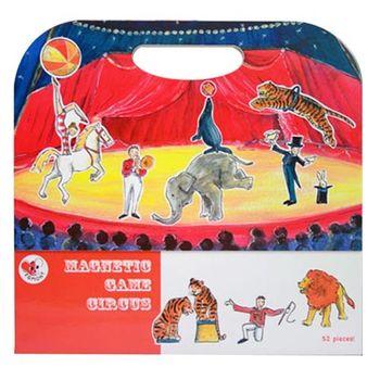 【BabyTiger虎兒寶】比利時 Egmont Toys 艾格蒙繪本風遊戲磁貼書 - 馬戲團