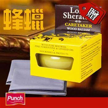 【鞋之潔】英國PUNCH 102喜來登木飾傢俱蜜臘膏75ml 贈超細纖維布2條
