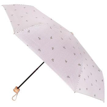 【2mm】銀膠抗UV 蝴蝶結條紋輕量手開傘(咖啡色)
