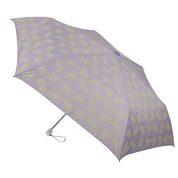 【2mm】銀膠抗UV 粉彩花漾超細手開傘(薰衣紫)