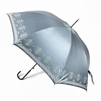 【2mm】巴洛克色膠抗UV自動直傘(淺藍)