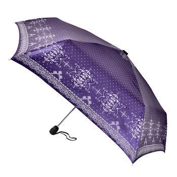 【2mm】巴洛克狂想曲.色膠防曬自動開收傘(神秘紫)