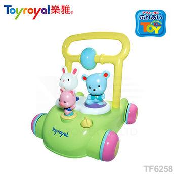 日本《樂雅 Toyroyal》動物音樂助步車