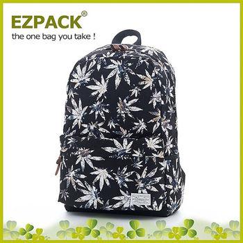 EZPACK 校園花漾後背包 EZ63263 黑色落葉