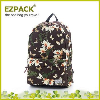 EZPACK 校園花漾後背包 EZ63263 花蝴蝶棕