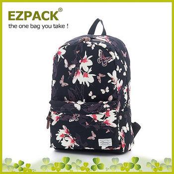 EZPACK 校園花漾後背包 EZ63263 花蝴蝶黑