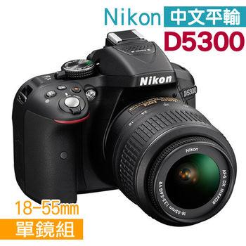 【副電組】Nikon D5300附18-55mm 變焦單鏡組(中文平輸)