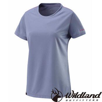 【荒野wildland】女S-XL疏水纖維圓領排汗衣 中灰色 (W1623-92)