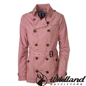 【荒野wildland】女RE時尚透氣抗UV風衣外套 珍珠粉 (0A31997-28)