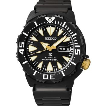 SEIKO Prospex 海龍潛水200米機械腕錶-IP黑/42mm 4R36-01J0K(SRP583J1)