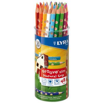 【德國 LYRA 彩繪系列】GROOVE三角洞洞色鉛筆(細)(24色/48支裝) 2823480
