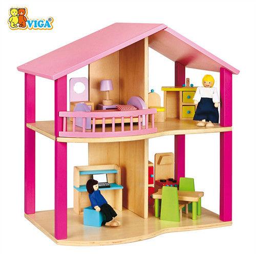 [德國 VIGA]木製夢想娃娃小屋