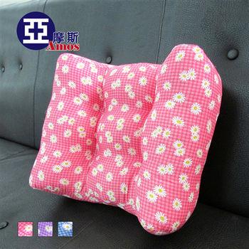 【Amos】花漾超厚實3D舒適大型靠腰枕/舒壓枕