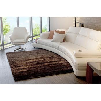 【天閣藝坊】歐茲堡質感精品大地毯 歐密長纖地毯 70x140cm(黑金)