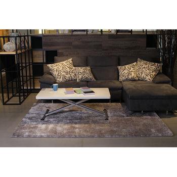 【天閣藝坊】歐茲堡質感精品大地毯 歐密長纖地毯 70x140cm(灰)