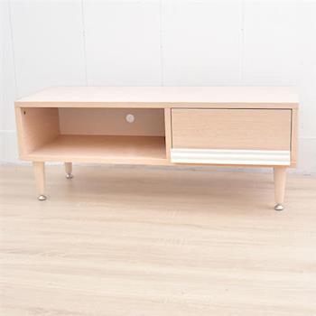 【凱堡】日系實木腳TV電視櫃(後孔線收納) 茶几桌、視聽櫃