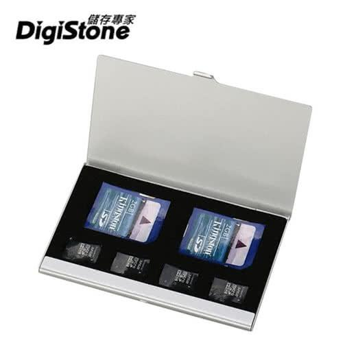 DigiStone 超薄型Slim鋁合金 多功能記憶卡收納盒(2SD+4TF)X1P【鋁合金外殼】【防靜電EVA】