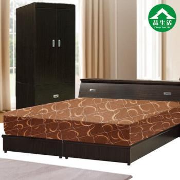 【品生活】經典優質四件式房間組2色可選(床頭+床底+衣櫥+日式護背彈簧床)-(單人加大3.5尺)