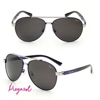 【MEGASOL】電影明星同款UV400偏光太陽眼鏡鎳合金純手工鏡架(MS8023-4色任選)