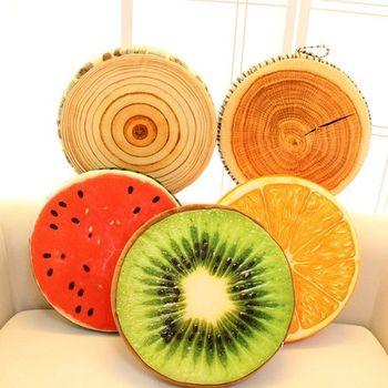 創意仿真3D水果坐墊抱枕(多款可選)2入組