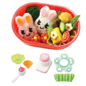 日本Arnest創意料理小物-可愛飯糰便當模型六件組