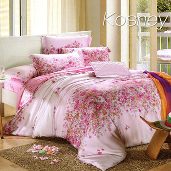【KOSNEY】下一站幸福  雙人100%天絲TENCE六件式兩用被床罩組送天絲夏被