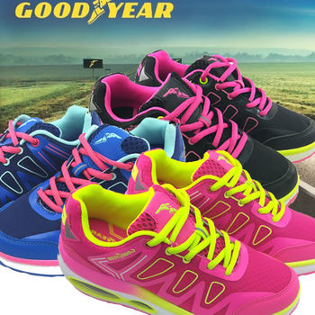 【美國GOOD YEAR 固特異】-氣墊健走鞋女款一入/鞋盒裝