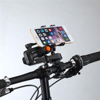 Sense神速 360度旋轉自行車手電筒手機雙用支架