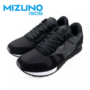 【Mizuno 美津濃】  Mizuno 1906 限量 女休閒款慢跑鞋 (黑X灰) D1GA160009