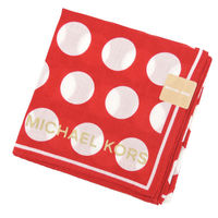 MICHAEL KORS圓點隱形LOGO帕巾 #40 紅白 #41
