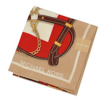 MICHAEL KORS皮帶鎖鏈帕巾(卡其紅)