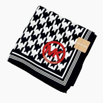 MICHAEL KORS千鳥格帕巾(黑白)