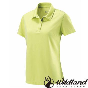 【荒野wildland】女疏水纖維POLO排汗衣 檸檬黃 (W1621-34)