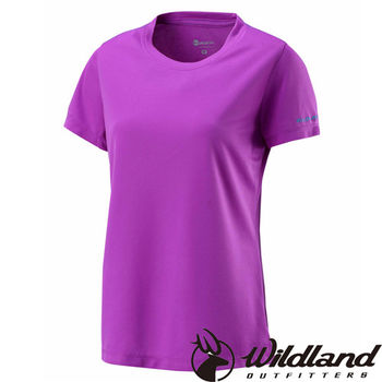 【荒野wildland】女疏水纖維圓領排汗衣 葡萄紫 (W1623-58)