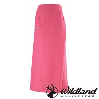 【荒野wildland】中性涼爽紗抗UV防曬裙 玫瑰紅 (W1808-20)